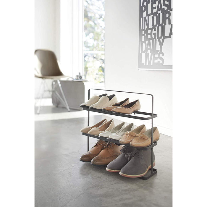 Tower Shoe Rack Wide - 9 Shoes, Black - Neat Space