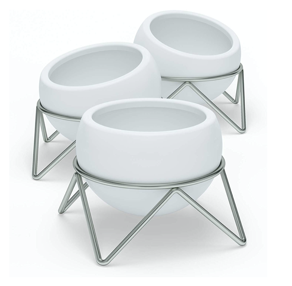 Potsy Planter Set, White/NkL (3pk) - Neat Space