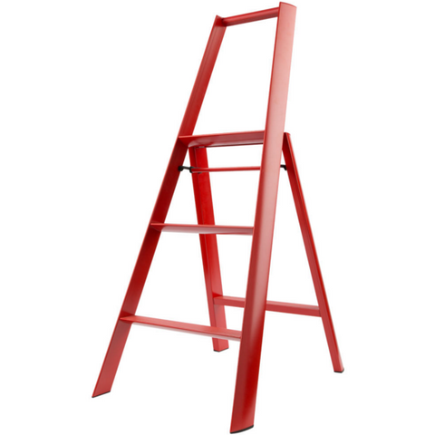 Lucano 3 Step Ladder Red