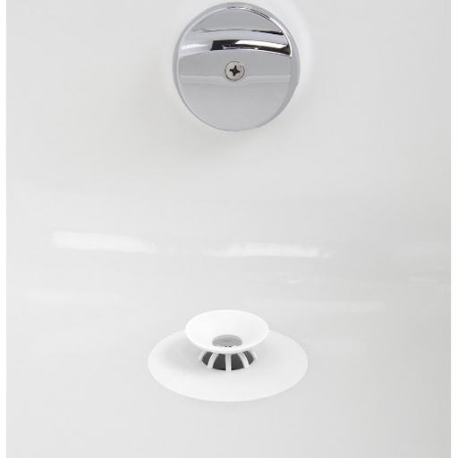 Flex Drain Stop and Hair Catcher, White - Neat Space