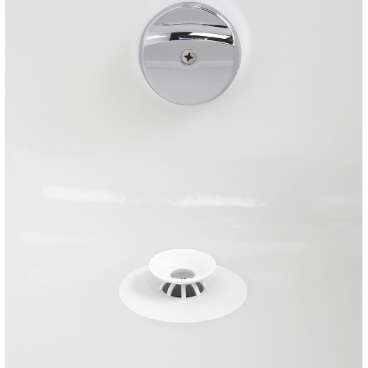 Flex Drain Stop and Hair Catcher, White