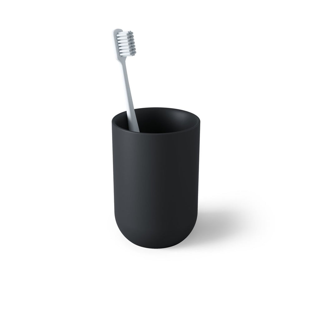 Junip Tumbler/Toothbrush Holder, Black - Neat Space