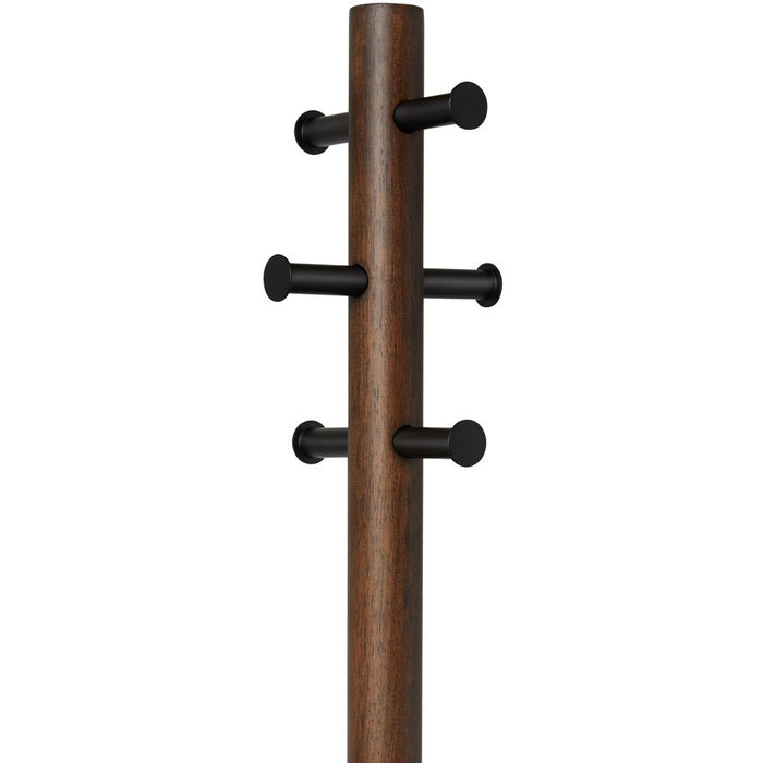 Pillar Stool with Coat Rack, BLK/WAL