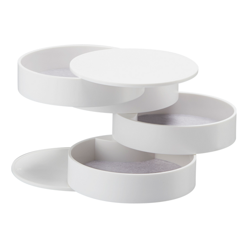 Tower 4-Tiered Accessory Tray, White