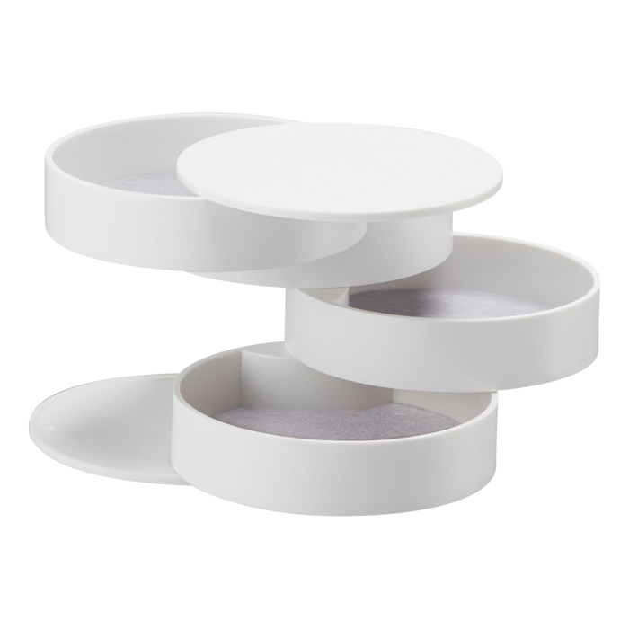 Tower 4-Tiered Accessory Tray, White - Neat Space