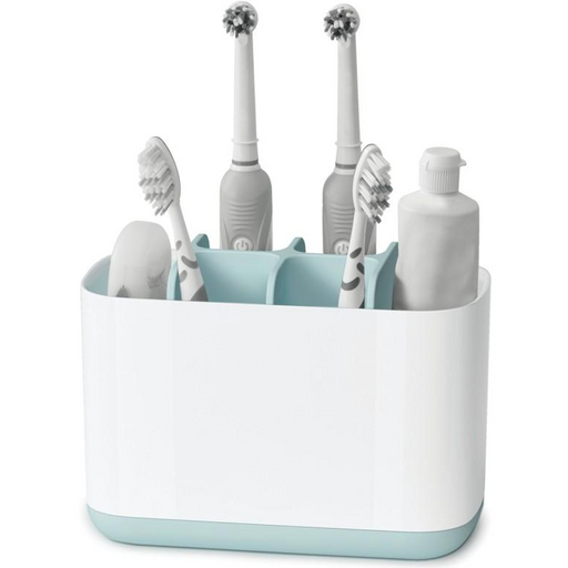 EasyStore Large Toothbrush Caddy, Blue - Neat Space