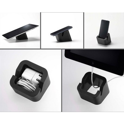 Square Tablet Stand, Black