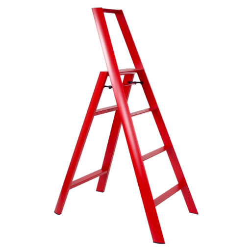 Lucano 4-Step Ladder, Red