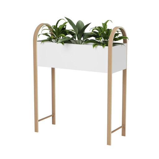 Bellwood Freestanding Storage & Planter White