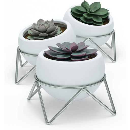 Potsy Planter Set, White/NkL (3pk)