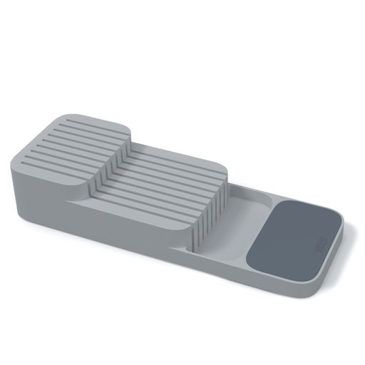 DrawerStore 2-Tier Compact Knife Organizer, Grey