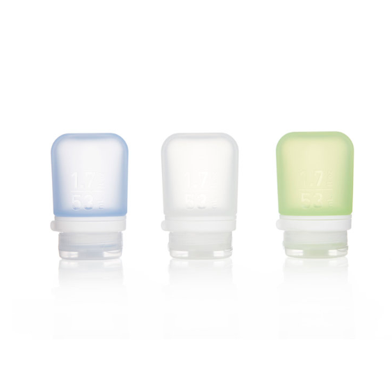GoToob+, 3 pack, Small, Clear/Green/Blue, 53ML 1.7oz