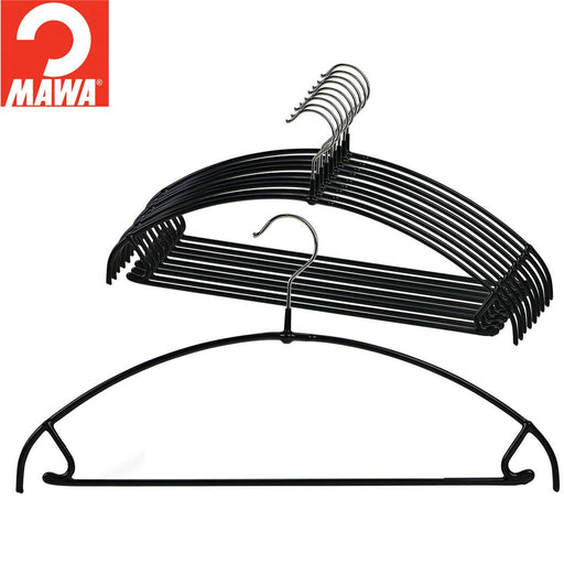 MAWA Euro Pant-Bar Hook Hanger, Black 10/Pk