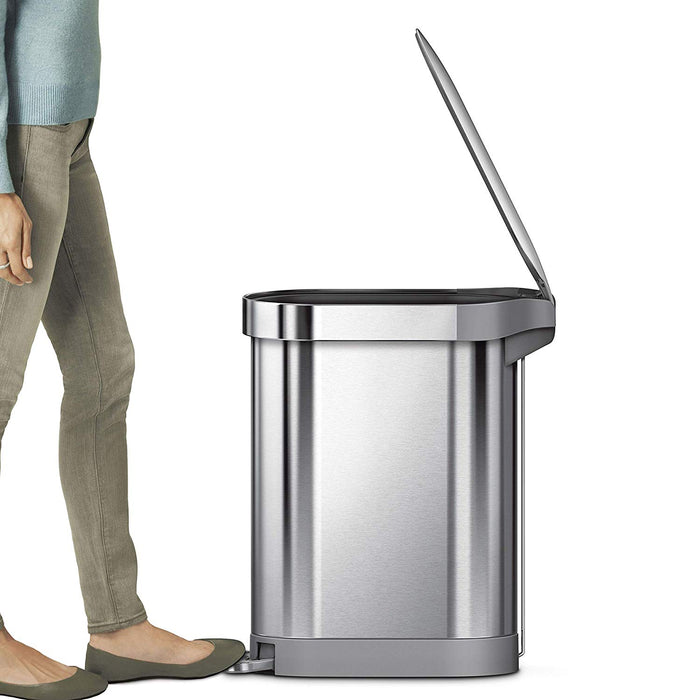 SimpleHuman Slim Step Can 45L, SS - Neat Space