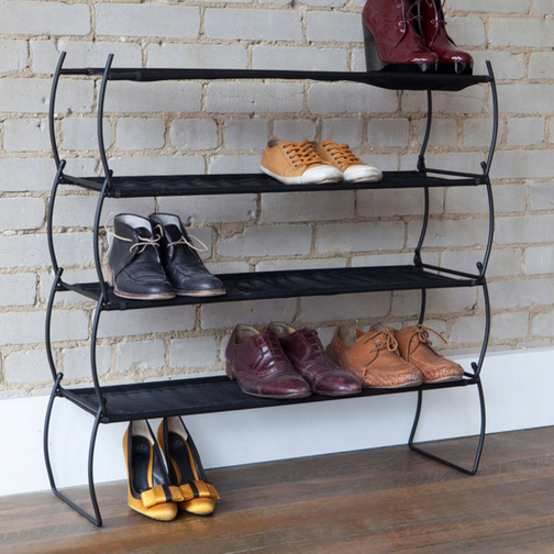 Imelda Shoe Racks, Black, Set of Two - Neat Space