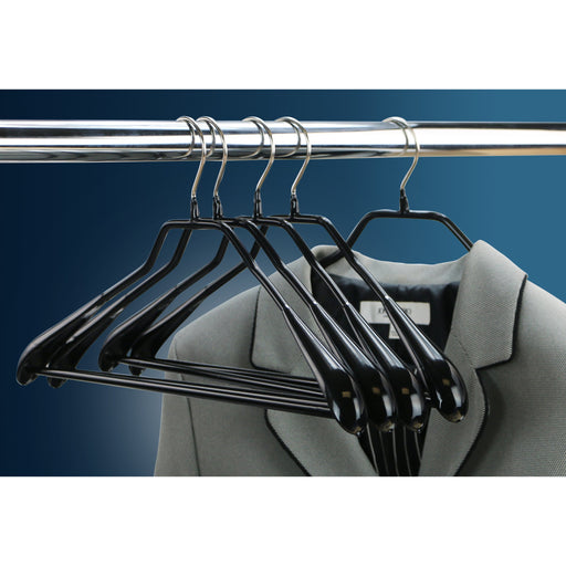 MAWA BodyForm 42-LS Pant-Bar Hanger, Black 5/Pk