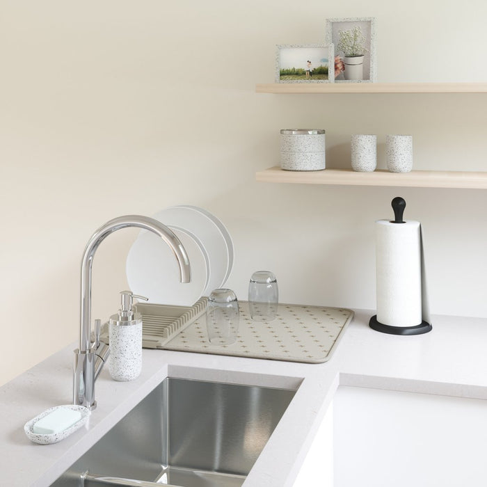 UDry Dishrack & Drying Mat - Latte