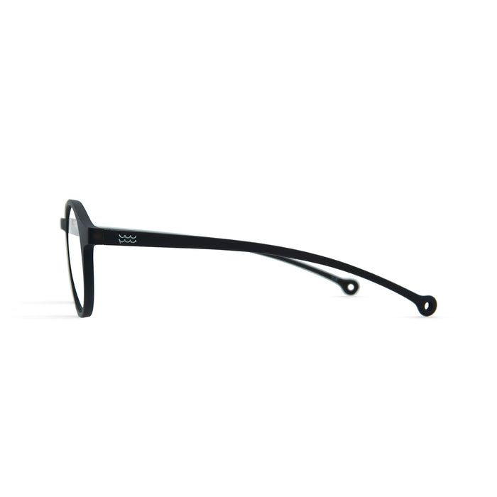 Volga Reading Glasses, Black +3.00