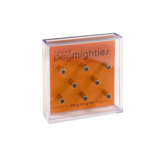 Peg Mighties Magnets, 8 Pack