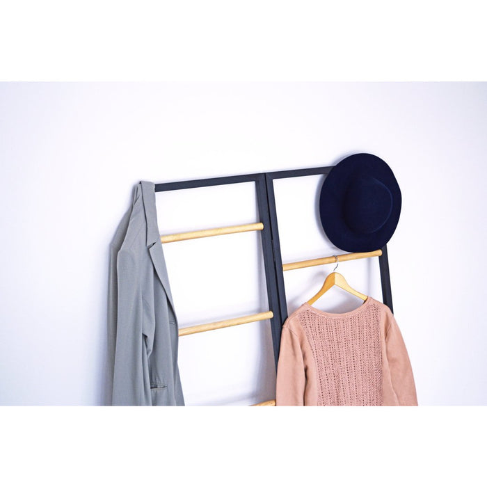 Versa Garment Rack, Black/Natural