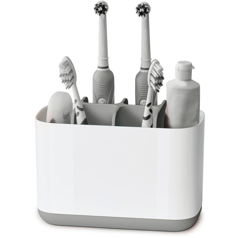 JJ EasyStore Large Toothbrush Caddy, Grey
