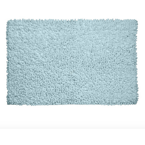 Spa Loop Micro Fiber Bathmat, 20 x 32, Aqua