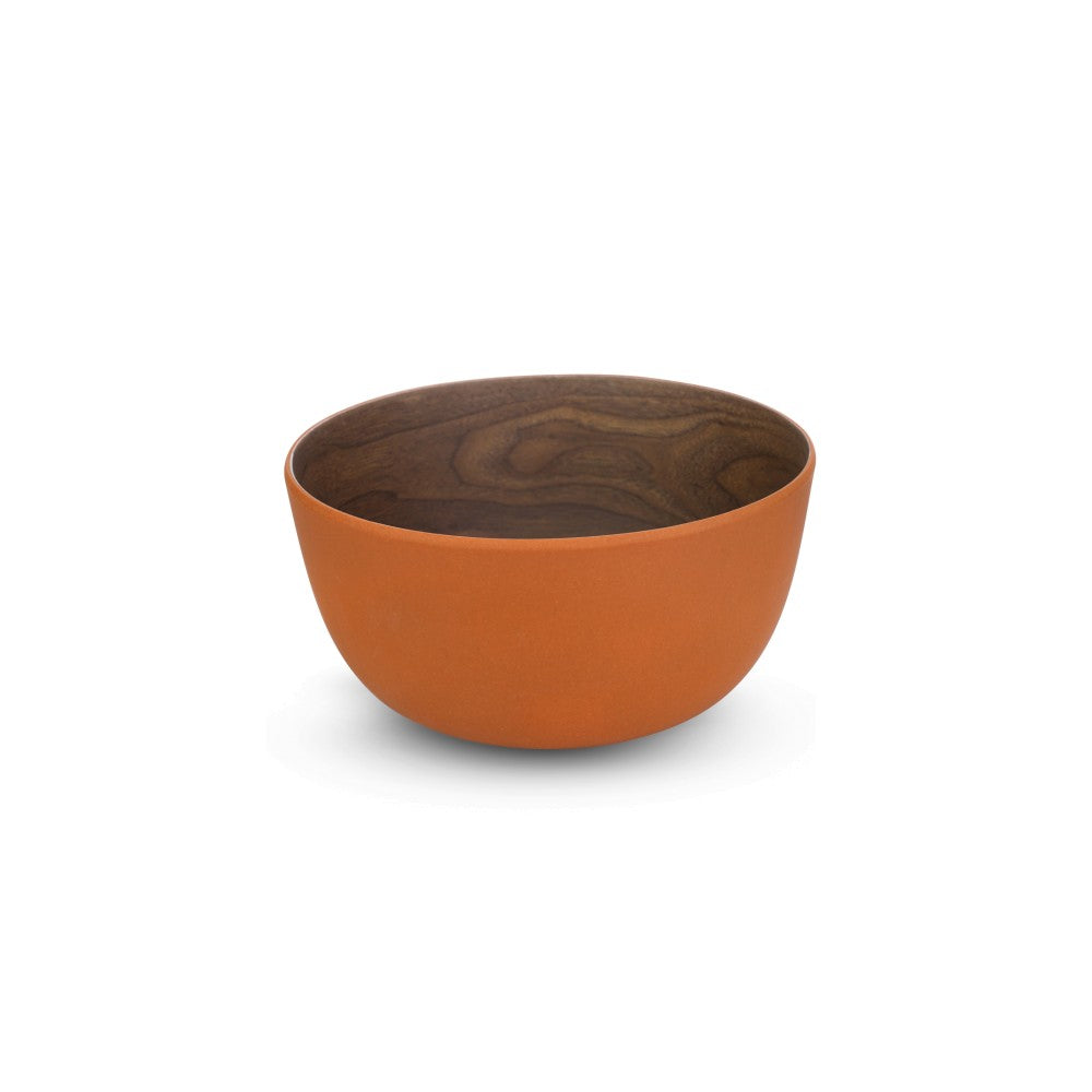 Bamboo Walnut Brick Bowl, 14 cm, Set of 4