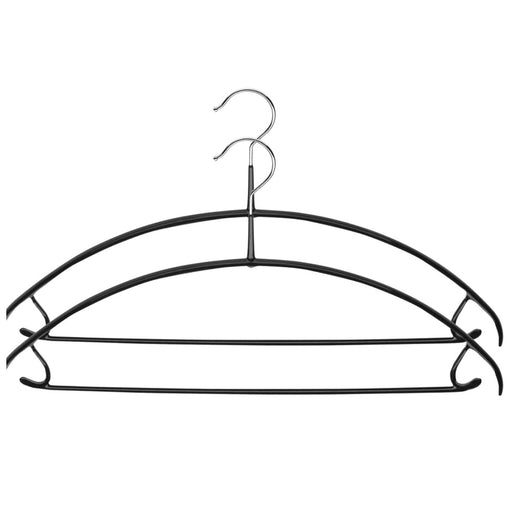 MAWA Euro Pant-Bar Hook Hanger, Black 2/Pk