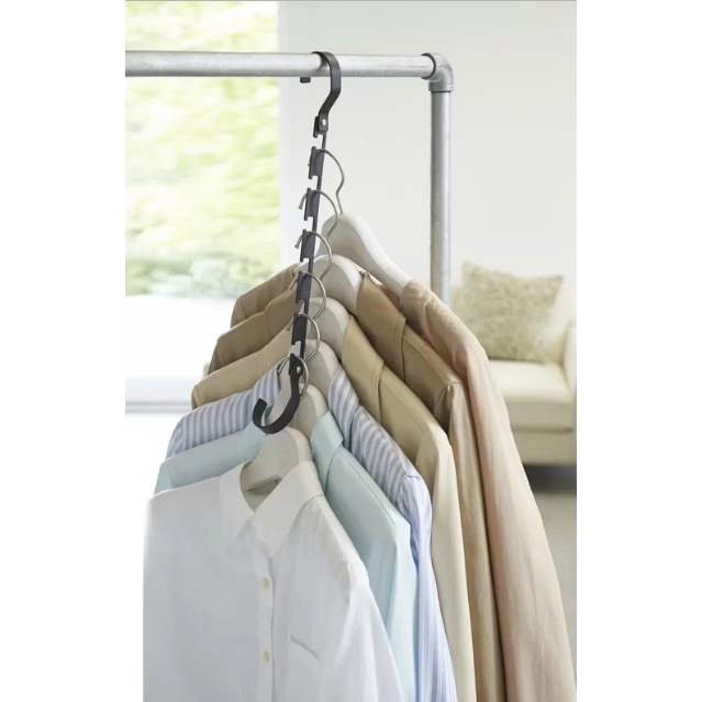 Smart Space Saver Closet Hanger, Black