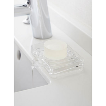 Veil Self Draining Soap Dish Tray, Clear
