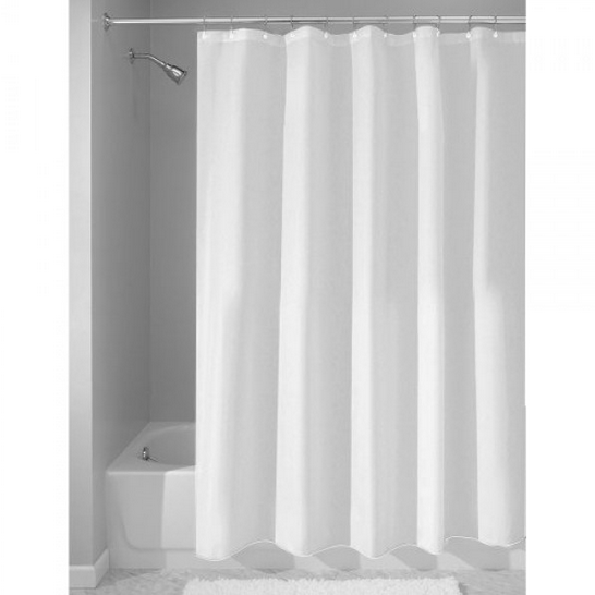 Fabric Shower Curtain, White