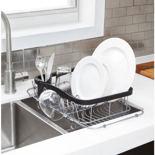 Sinkin Multi-Use Dish Rack, Black/Nickel - Neat Space