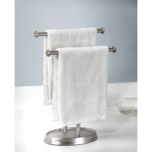 Palm Double Hand Towel Tree, Nickel - Neat Space