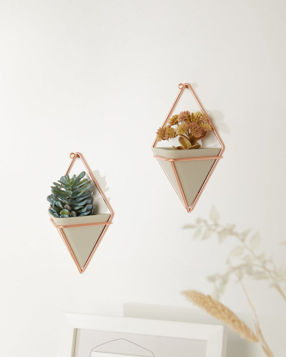 Trigg Small Wall Vessel, Copper/Concrete - Set of 2 - Neat Space