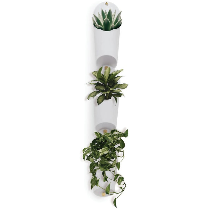 Floralink Wall Vessel Vase, White - Neat Space