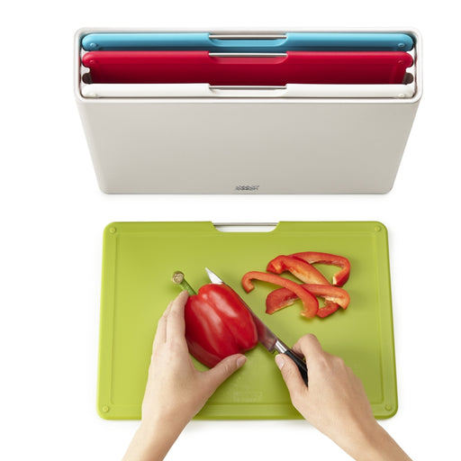 FOLIO Chopping Board Set, Silver Multi