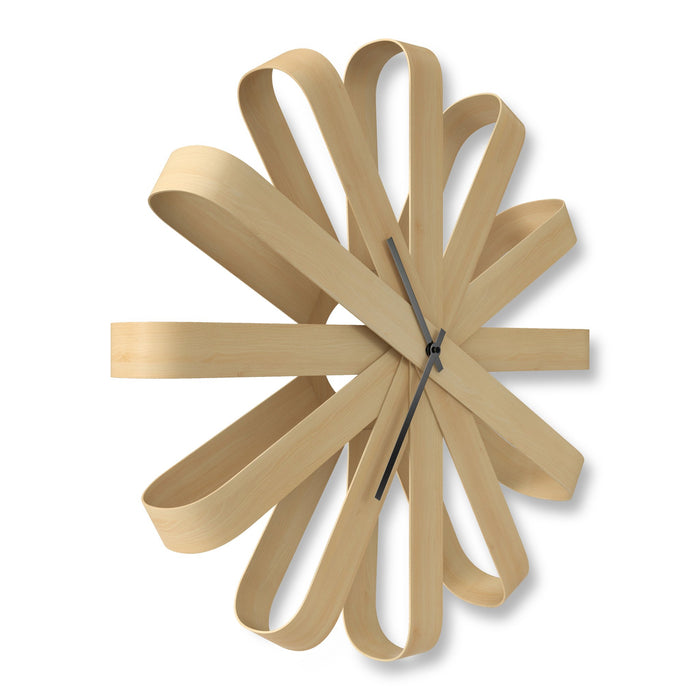 Ribbonwood Wall Clock Natural