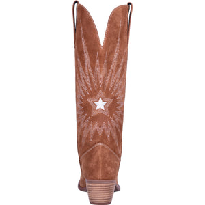 """Ole Ringo Star"" Whiskey Brown Leather Suede Knee High Boots"