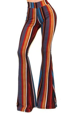 """Ole Saturday Night Fever"" Vintage Striped Bell Bottoms"