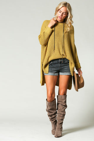 """Ole Mossy Oak"" Chunky Knit Oversized Sweater"