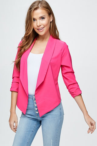 """Ole Pretty In Pink"" Hot Pink Blazer Style Jacket"