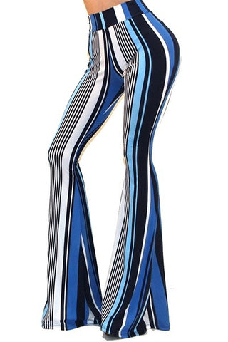 """Ole Jackie Blue"" Mix Stripe Bell Bottoms ~ PREORDER 11/21"