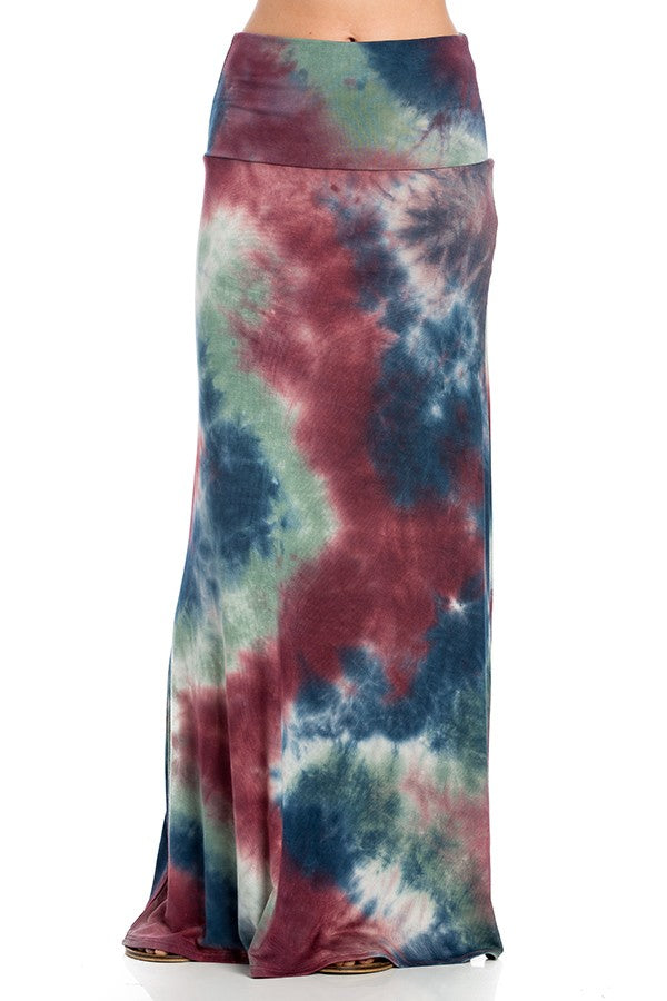 """Ole Mother Earth"" Tie Dye Maxi Skirt"