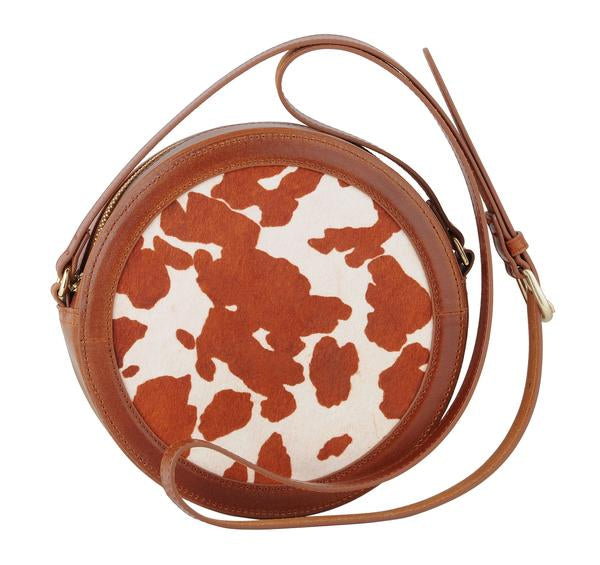 """Ole Eastbound & Round"" Hair On Hide Cow Puncher Canteen Purse"