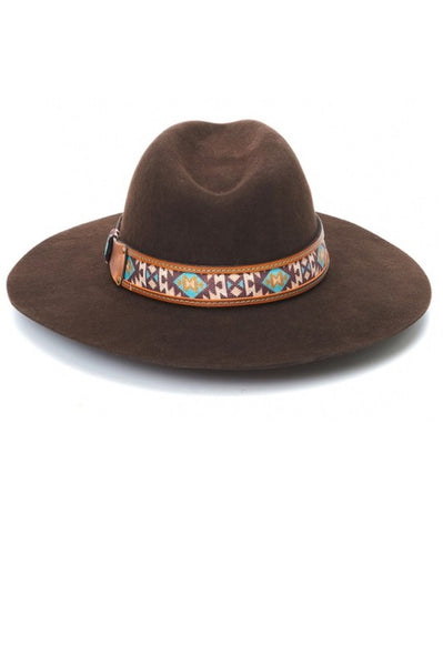 """Ole Winston"" Chocolate Brown Bohemian Cowgirl Hat"