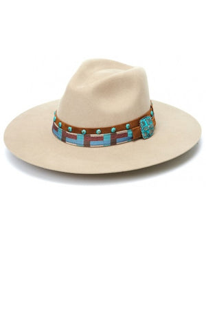 """Ole Chihuahuan"" Solid Stone Bohemian Cowgirl Hat"