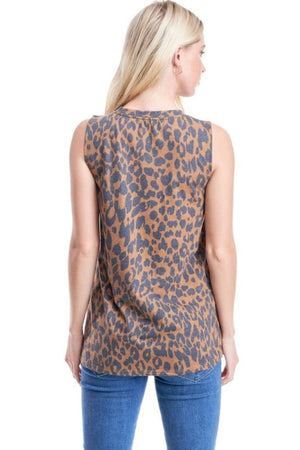 """Ole RAWRin' Thunder"" Brown Leopard Graphic Tank"
