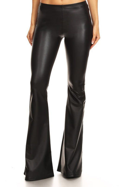 Black Betty Patent Leather Bell Bottoms