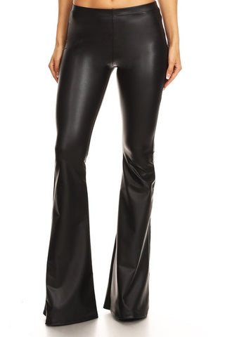 """Ole Black Betty"" Patent Leather Bell Bottoms"