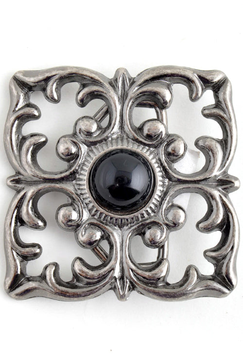 """Ole Onyx Rose"" Belt Buckle"